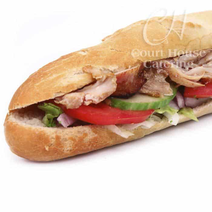packed lunch baguettes